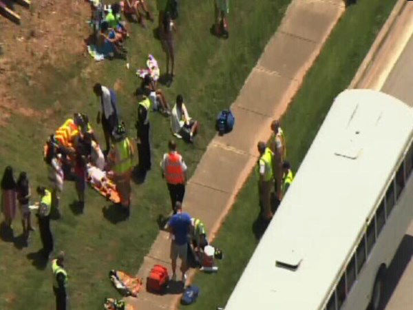 "<div class=""meta ""><span class=""caption-text "">A YMCA bus was involved in an accident Wednesday afternoon at NW Cary Parkway and Evans Road. (WTVD Photo)</span></div>"