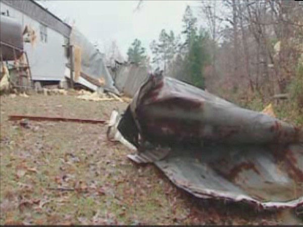 Strong winds lifted homes off foundations and tore down trees. <span class=meta>(WTVD Photo)</span>