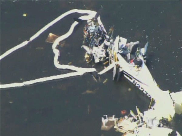 The Cape Fear River crash site Friday July 22. <span class=meta>(WTVD Photo&#47; Chopper 11)</span>