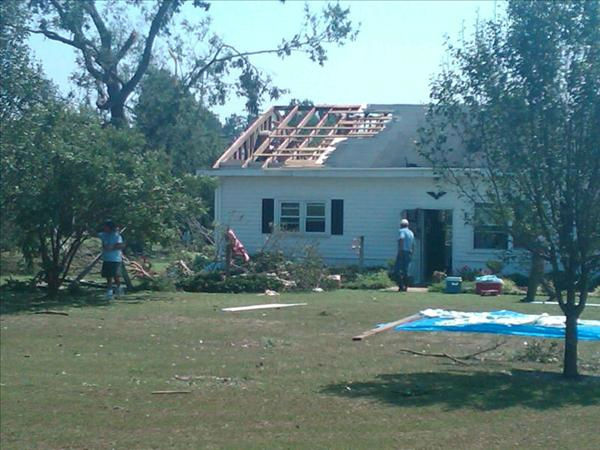 Hurricane Irene spawned several tornadoes like this one in Tyrrell County - one county inland from Dare County and the Outer Banks - where homes and vehicles were heavily damaged.  <span class=meta>(WTVD Photo&#47; Digital Journalist Mat Mendez)</span>