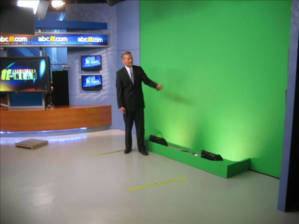 Chris at the &#34;green screen.&#34; <span class=meta>(WTVD Photo&#47; Ian Slack)</span>