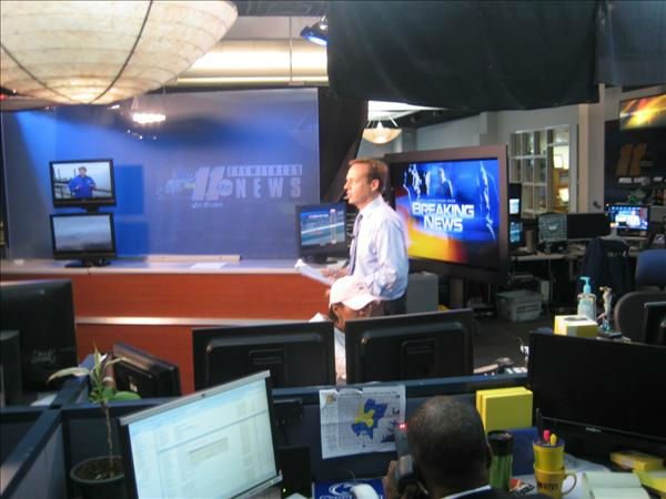 Steve in the breaking news center. <span class=meta>(WTVD Photo&#47; Ian Slack)</span>