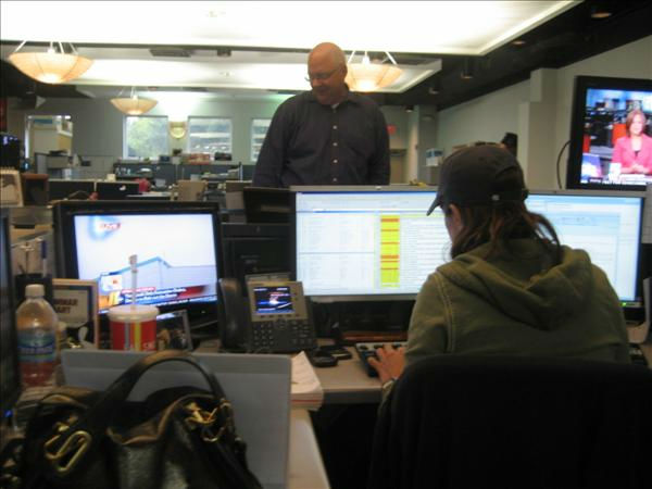 Executive Producer Lori Denberg and Assignment Manager Tom Donahue. <span class=meta>(WTVD Photo&#47; Ian Slack)</span>