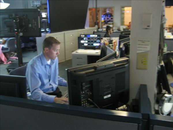 Executive Producer Derek Rowles goes over the lineups. <span class=meta>(WTVD Photo&#47; Ian Slack)</span>