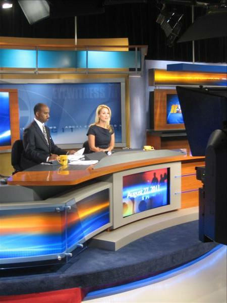 John and Barbara in the Durham studio. <span class=meta>(WTVD Photo&#47; Ian Slack)</span>