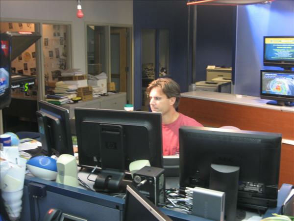 Morning show producer Bobby Semler makes sure his story lineup is correct. <span class=meta>(WTVD Photo&#47; Ian Slack)</span>