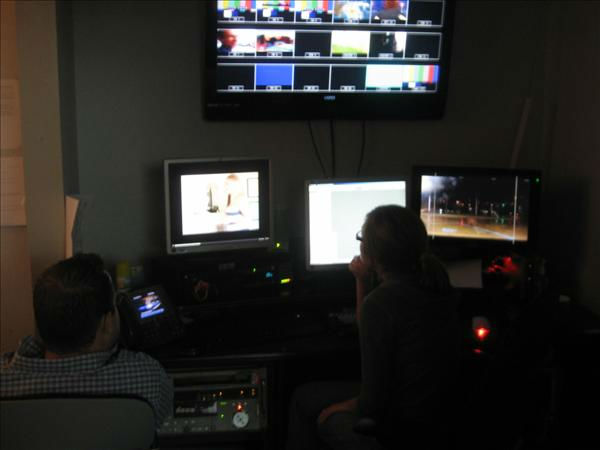 Editors in Durham record video fed in from the coast. <span class=meta>(WTVD Photo&#47; Ian Slack)</span>