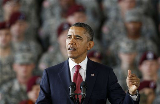 "<div class=""meta ""><span class=""caption-text "">President Barack Obama speaks to troops at Fort Bragg, N.C., Wednesday, Dec. 14, 2011.  (AP Photo/ Gerry Broome)</span></div>"