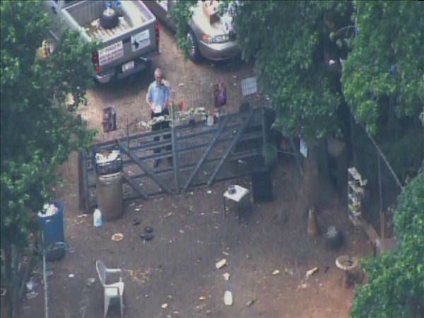 "<div class=""meta ""><span class=""caption-text "">Franklin County animal control officers went to a home near Zebulon Monday and seized more than 100 animals. (WTVD Photo/ Chopper11 HD)</span></div>"