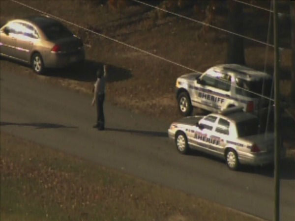 "<div class=""meta ""><span class=""caption-text "">Deputies on the scene of a standoff on the north side of the Campbell University campus. (WTVD Photo/ Chopper 11 HD)</span></div>"