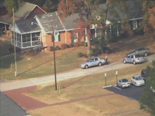 Deputies on the scene of a standoff on the north side of the Campbell University campus. <span class=meta>(WTVD Photo&#47; Chopper 11 HD)</span>