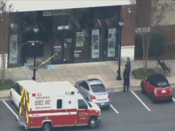 "<div class=""meta image-caption""><div class=""origin-logo origin-image ""><span></span></div><span class=""caption-text"">An SUV went through a glass storefront of a business called furnish123 Friday afternoon. The driver told police the floor mat got caught on the accelerator and brake pedal and he couldn't stop the vehicle. No one was injured. (WTVD Photo/ Chopper 11 HD)</span></div>"