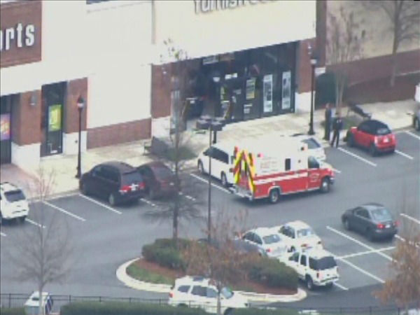An SUV went through a glass storefront of a business called furnish123 Friday afternoon. The driver told police the floor mat got caught on the accelerator and brake pedal and he couldn&#39;t stop the vehicle. No one was injured. <span class=meta>(WTVD Photo&#47; Chopper 11 HD)</span>