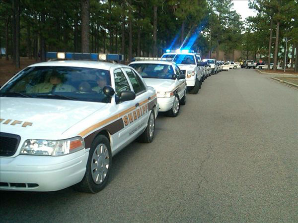 Deputy Rick Rhyne was laid to rest with full honors Monday. <span class=meta>(WTVD Photo&#47; Gilbert Baez)</span>