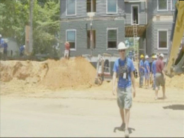 Signs of progress were everywhere on day 4 of the Extreme Makeover Home Edition build in Fayetteville. <span class=meta>(WTVD Photo&#47; Jennifer Kovaleski)</span>