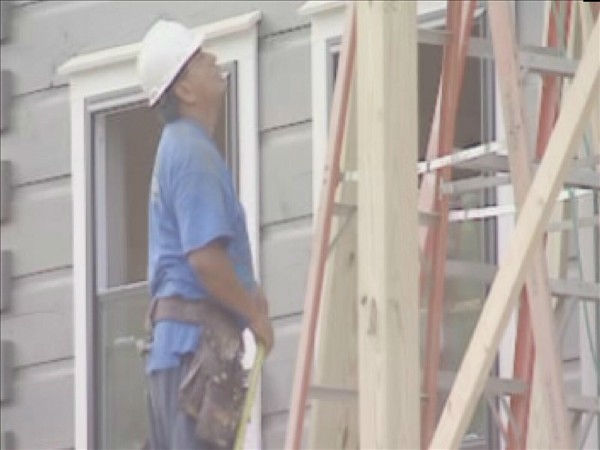 Volunteers work on the Fayetteville home Monday. <span class=meta>(WTVD Photo&#47; Lou Guilette)</span>