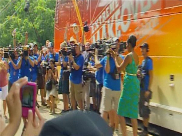 First Lady Michelle Obama surprises the Marshalls <span class=meta>(WTVD Photo&#47; Jim Shumacher)</span>