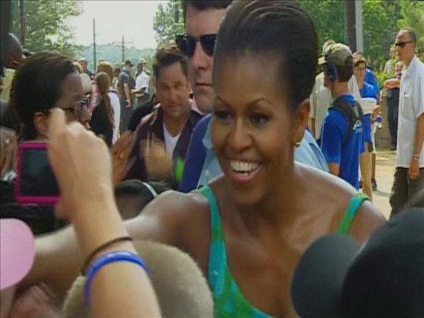 First Lady Michelle Obama <span class=meta>(WTVD Photo&#47; Jim Shumacher)</span>