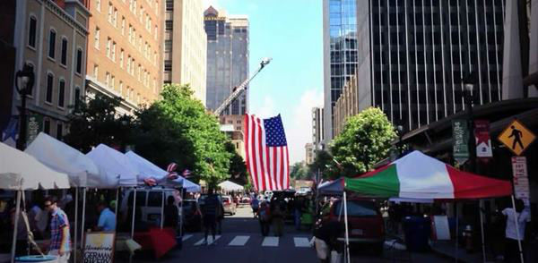 Fourth of July celebrations on Fayetteville Street in downtown Raleigh. <span class=meta>(WTVD Photo)</span>