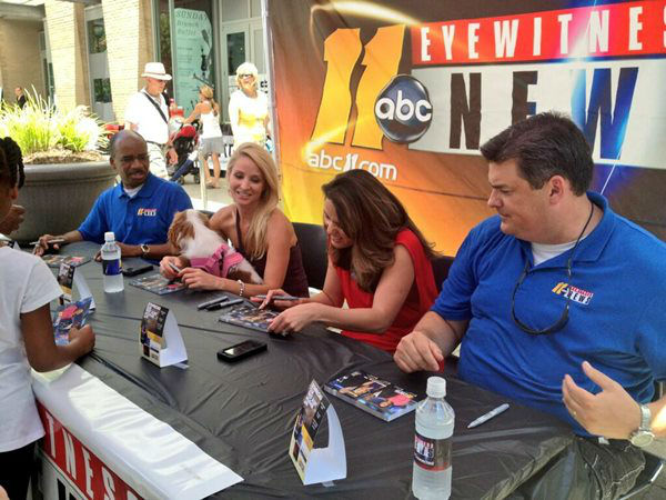 "<div class=""meta ""><span class=""caption-text "">The ABC11 morning team signing autographs. (WTVD Photo)</span></div>"
