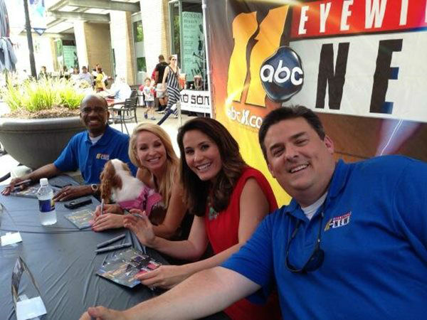 The ABC11 morning team signing autographs. <span class=meta>(WTVD Photo)</span>