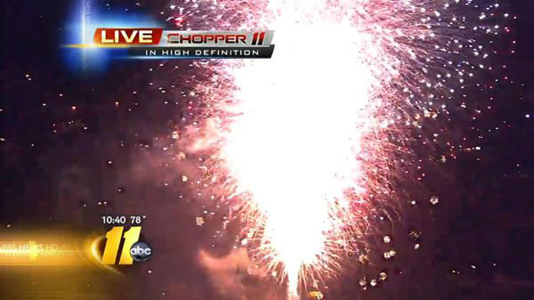 Fireworks celebrate the 4th of July in Raleigh. <span class=meta>(WTVD Photo)</span>