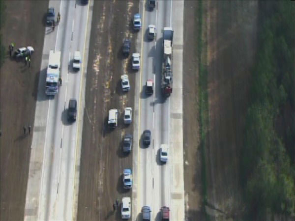 "<div class=""meta ""><span class=""caption-text "">The vehicle ended up in the shoulder of the westbound lanes near White Oak Rd. (WTVD Photo/ Chopper 11 HD)</span></div>"