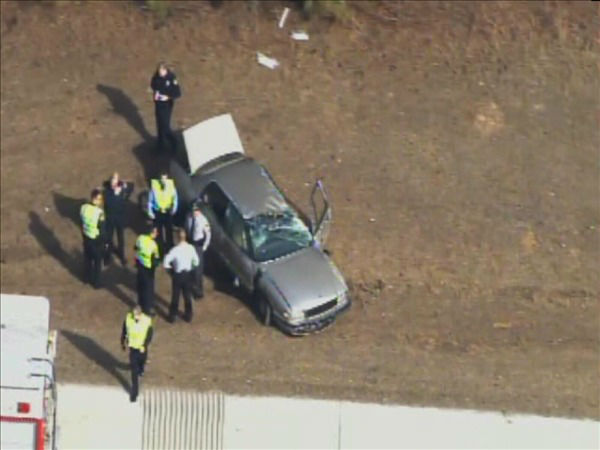 "<div class=""meta image-caption""><div class=""origin-logo origin-image ""><span></span></div><span class=""caption-text"">The vehicle ended up in the shoulder of the westbound lanes near White Oak Rd. (WTVD Photo/ Chopper 11 HD)</span></div>"