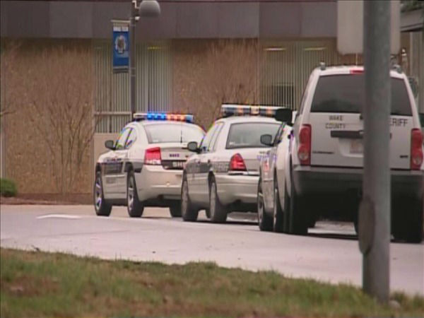"<div class=""meta image-caption""><div class=""origin-logo origin-image ""><span></span></div><span class=""caption-text"">The Wake Tech campus was placed on lockdown Tuesday morning after a report of an armed intruder. (WTVD Photo/ Jim Schumacher)</span></div>"