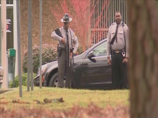 "<div class=""meta image-caption""><div class=""origin-logo origin-image ""><span></span></div><span class=""caption-text"">The Wake Tech campus was placed on lockdown Tuesday morning after a report of an armed intruder. (WTVD Photo)</span></div>"