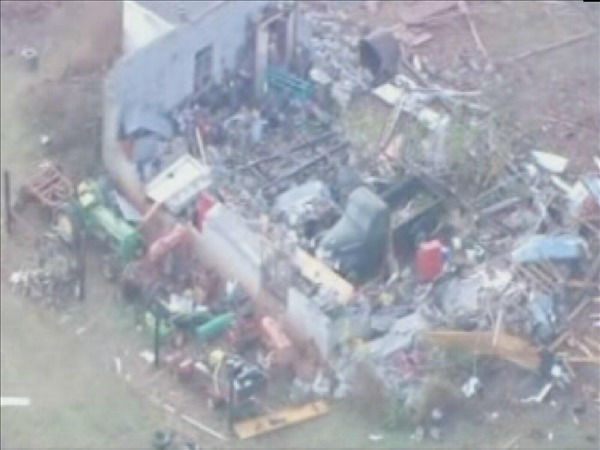 "<div class=""meta ""><span class=""caption-text "">Some of the damage from Wednesday night's storms in western North Carolina (Helicopter image courtesy WSOC-TV)</span></div>"