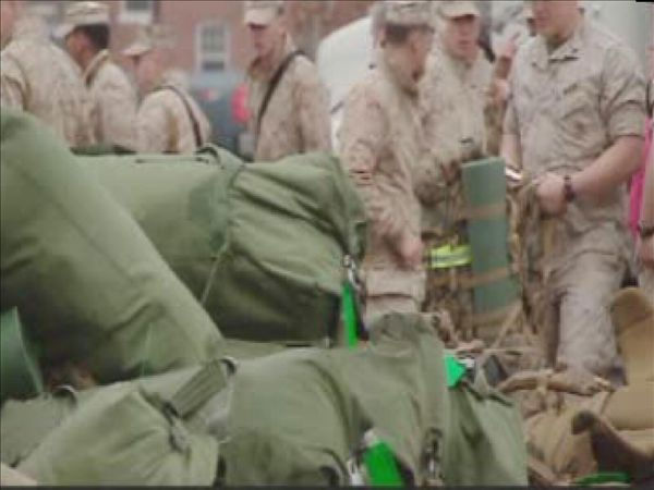 "<div class=""meta image-caption""><div class=""origin-logo origin-image ""><span></span></div><span class=""caption-text"">The 22nd Marine Expeditionary Unit was set to deploy to the Mediterranean later this year but that got bumped up once NATO forces launched an air assault on Libya. (WTVD Photo/ Shae Crisson)</span></div>"