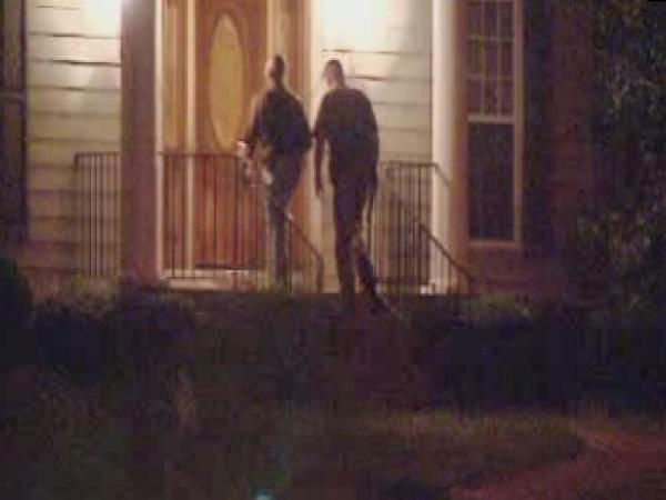 "<div class=""meta ""><span class=""caption-text "">Police investigate at a home on Thistle Trace in Durham/Hillsborough's Hardscrabble Plantation subdivision. (WTVD Photo/ Jim Shumacher)</span></div>"