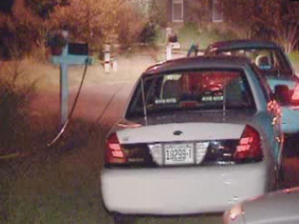 "<div class=""meta ""><span class=""caption-text "">Police investigate at a home on Thistle Trace in Durham/Hillsborough's Hardscrabble Plantation subdivision. (WTVD Photo)</span></div>"