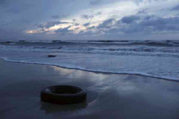 The surf comes in near tires washed up on the beach after Hurricane Earl brushed the North Carolina coast in Atlantic Beach, N.C., Friday, Sept. 3, 2010.  <span class=meta>(AP Photo&#47; Chuck Burton)</span>
