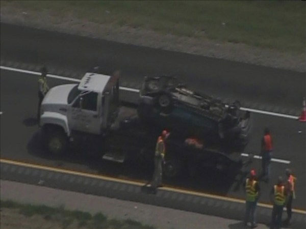 A man died in a single vehicle crash that shut down Interstate 95 in Nash County before noon Wednesday. It happened near the Wilson County line.The Highway Patrol said David Lloyd, 29, lost control of his SUV and ran off the highway. <span class=meta>(WTVD Photo)</span>