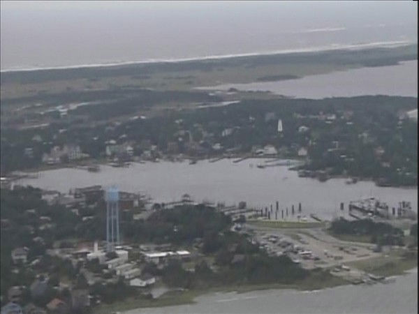 Chopper 11 HD flies over the Outer Banks after Hurricane Earl passed offshore. <span class=meta>(WTVD Photo&#47; Chopper 11 HD)</span>