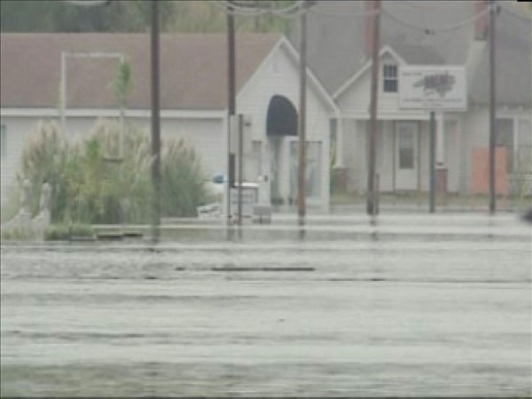 Windsor, NC - about 120 miles east of Raleigh - was innundated the rising Cashie River Friday leaving some residents stranded in their homes. <span class=meta>(WTVD Photo&#47; Bob Gaughran)</span>