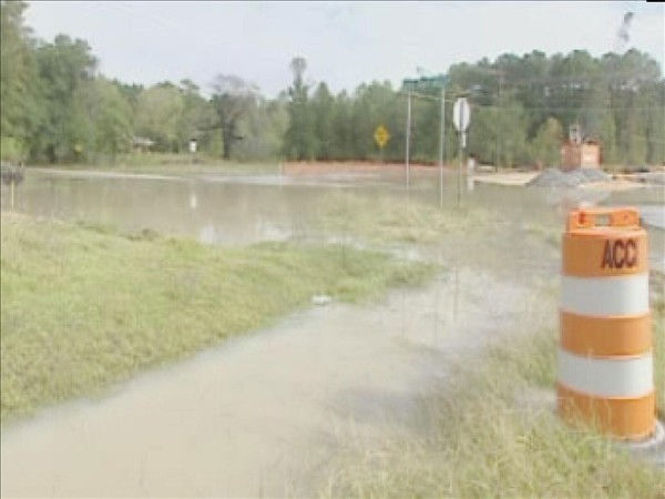 "<div class=""meta ""><span class=""caption-text "">The Fayetteville area has seen some overflowing creeks and high water on roads, but has been spared major damage. (WTVD Photo/ Fred Heggs)</span></div>"