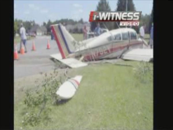 A single-engine Beechcraft crashed at the end of the runway in the Eastover Air Ranch subdivision <span class=meta>(WTVD Photo)</span>