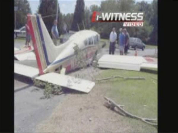 "<div class=""meta ""><span class=""caption-text "">A single-engine Beechcraft crashed at the end of the runway in the Eastover Air Ranch subdivision (WTVD Photo)</span></div>"