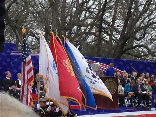 "<div class=""meta ""><span class=""caption-text "">Saturday's public swearing-in and parade  (WTVD Photo)</span></div>"