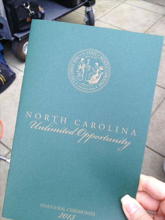 Saturday&#39;s public swearing-in and parade  <span class=meta>(WTVD Photo)</span>