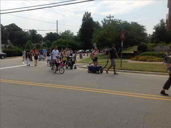 Dozens of children lined the streets of Wake Forest July 4th for the town&#39;s annual children&#39;s parade. <span class=meta>(Photo&#47;ABC11 Reporter Shae Crisson)</span>