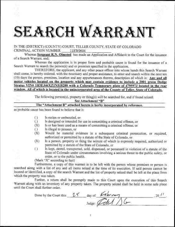 Search warrants in the Jadon Higganbothan&#47;Antoinetta McKoy case. <span class=meta>(WTVD Photo&#47; Teller County, CO)</span>