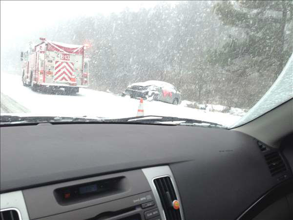 A winter storm snarled traffic and spawned dramatic scenes on roads around central North Carolina Wednesday. Many Good Samaritans and emergency workers came to the rescue of stranded drivers. <span class=meta>(ABC11 iWitness photo)</span>