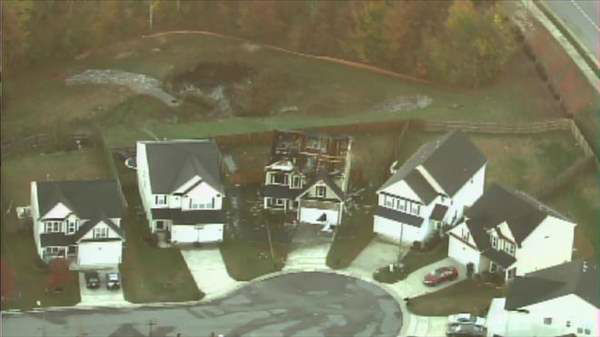 "<div class=""meta image-caption""><div class=""origin-logo origin-image ""><span></span></div><span class=""caption-text"">A house in southeast Raleigh was badly damaged overnight after catching on fire twice within 24 hours. (Chopper11 HD)</span></div>"