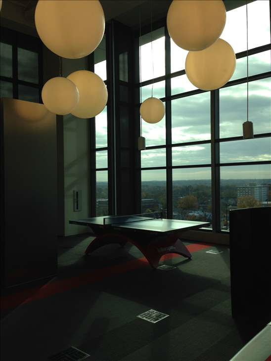 Inside the Red Hat tower in downtown Raleigh <span class=meta>(WTVD Photo)</span>