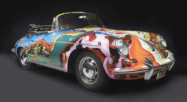 Porsche Type 356C Cabriolet, 1965, owned by Janis Joplin. Collection of the Joplin Family, Courtesy of the Rock and Roll Hall of Fame and Museum, Cleveland, Ohio. A new show at the North Carolina Museum of Art traces the evolution of the iconic car brand. <span class=meta>(Photograph &#38;copy; 2013 Peter Harholdt via NCMA)</span>