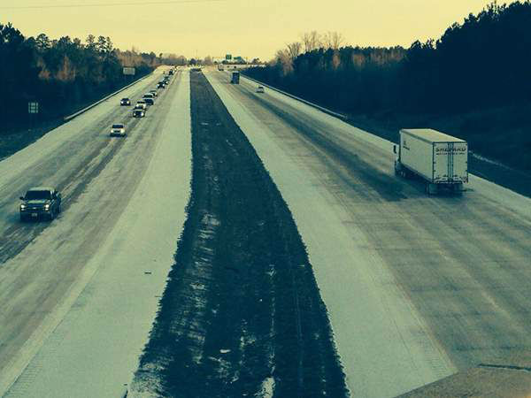 Frigid temperatures left slick spots along roadways across central North Carolina Tuesday morning, causing several accidents and traffic backups. <span class=meta>(WTVD)</span>